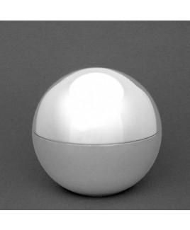 Mini urn Bol, verzilverd.