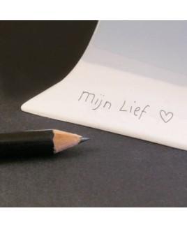 "Porceleinen mini urn: ""Close to you"""