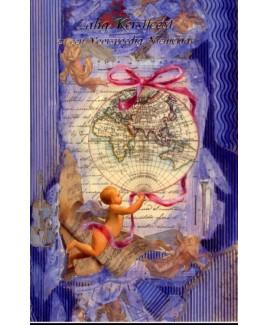 Globe, rose lint met engelen.