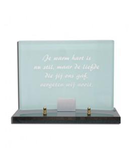 Gedenksteen glas gebogen