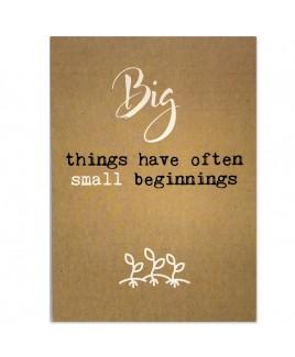 Postkaart small beginnings