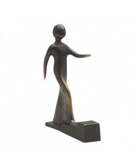 Bronzen beeldje Stap voor stap