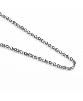 Edelstaal schakel collier