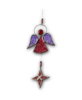 Engel sun catcher rood.
