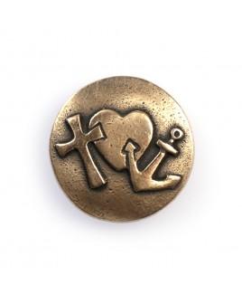 Geloof hoop liefde brons