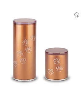 Dierenurn cilinder oranje