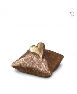Mini urn kussen met hart