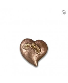 Mini urn hart met roos