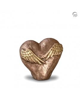Mini urn hart met vleugels