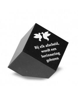 Tekststeen kubus