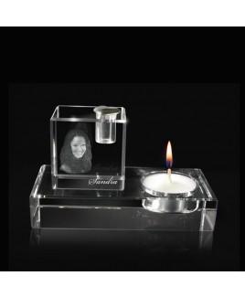 Waxinelichthouder kristal