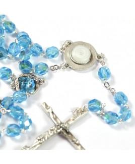 Rozenkrans blauw met Lourdeswater