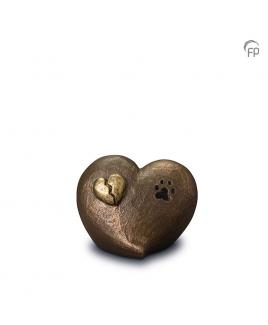 Gebroken hart brons