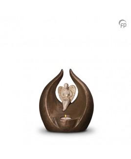 Beschermengel brons urn
